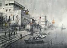 Varanasi | Painting by artist Atul Gendle | watercolor | Paper