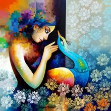 Figurative Acrylic Art Painting title 'Fantastic 2' by artist Sanjay Tandekar