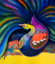 Animals Acrylic Art Painting title Fascination 9 by artist Sanjay Tandekar