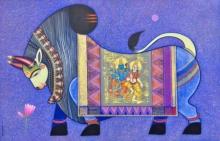 art, painting, acrylic, canvas, religious