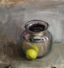 Still-life Oil Art Painting title Still Life by artist SURABHI GULWELKAR