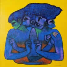 Figurative Acrylic Art Painting title 'Author Of Vedas' by artist Aditya Pandit