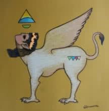 Kamdhenu | Drawing by artist Aditya Pandit |  | dry-pastel | Paper