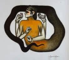 Mind Contorller | Drawing by artist Aditya Pandit |  | dry-pastel | Paper