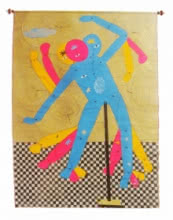 Needs Says Dance With Me   Painting by artist Devidas Agase   mixed-media   Paper