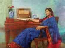 Pensive Thoughts   Painting by artist Aditya Phadke   oil   Canvas
