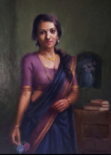 Figurative Oil Art Painting title 'Untitled' by artist Siddharth Gavade