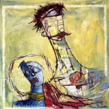 Couple | Painting by artist A S Rind | acrylic | Canvas