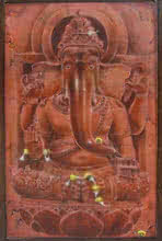 art, beauty, painting, acrylic, canvas, religious, god, lord ganesha
