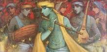 Subrata Das Paintings | Acrylic Painting - Music Series by artist Subrata Das | ArtZolo.com