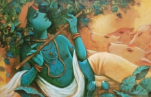 Religious Acrylic Art Painting title Tune Of Love 2 by artist Subrata Das