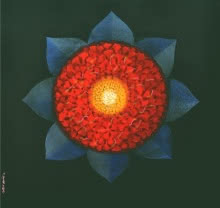 Religious Acrylic Art Painting title 'Araddhya 2' by artist RAJIB DEYASHI