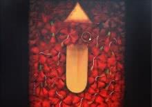 Religious Acrylic Art Painting title 'Ma Kali' by artist RAJIB DEYASHI