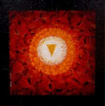 Religious Acrylic Art Painting title 'Prokriti' by artist RAJIB DEYASHI