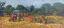 Tractor | Painting by artist Amol Dubhele | watercolor | Paper