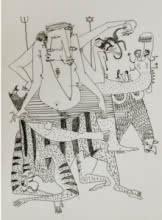 Metaphor | Drawing by artist Darshan Mahajan |  | Pen&Ink | Paper