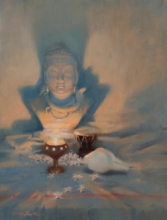 Religious Oil Art Painting title 'Still Life' by artist Vijay Jadhav