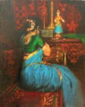 Vijay Jadhav | Oil Painting title Wating on Canvas | Artist Vijay Jadhav Gallery | ArtZolo.com