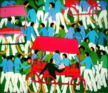 A Day | Painting by artist Kumar Ranjan | acrylic | Canvas