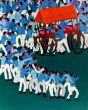 A Village Haat | Painting by artist Kumar Ranjan | acrylic | Canvas