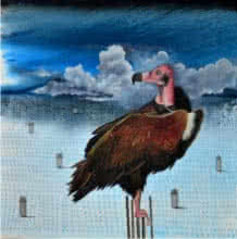 Vulture | Painting by artist Ashish Kushwaha | acrylic-oil | Canvas