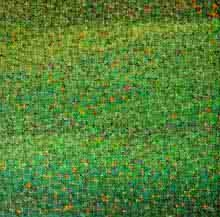 Green Abstract | Painting by artist Vinit Kumar | oil | Canvas