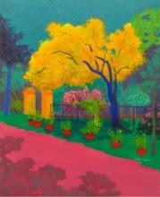 The Yellow Tree | Painting by artist PROTYUSHA MITRA | acrylic | Canvas