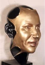 Sagar Rampure | Mask Mukhote Sculpture by artist Sagar Rampure on Fiberglass | ArtZolo.com