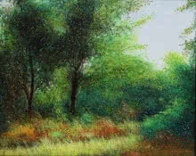 Nature Acrylic Art Painting title 'Morning Glory' by artist VIMAL CHAND