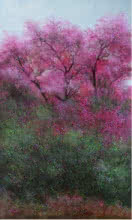 Pink Trees | Painting by artist VIMAL CHAND | acrylic | Canvas