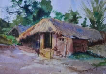 Zopadi | Painting by artist Swapnil Patil | watercolor | Paper