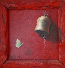 Still-life Acrylic Art Painting title Bell by artist Gopal Pardeshi