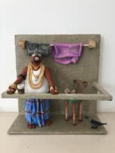 Kholi No 35 | Sculpture by artist Bharati  Pitre | Paper Mache