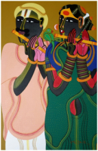 Figurative Acrylic Art Painting title 'Untitled 18' by artist Thota Vaikuntam