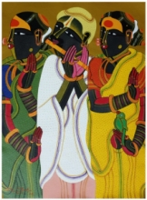 Figurative Acrylic Art Painting title 'Untitled 17' by artist Thota Vaikuntam