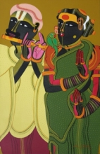 Figurative Acrylic Art Painting title 'Untitled 20' by artist Thota Vaikuntam