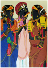 Figurative Acrylic Art Painting title 'Untitled 5' by artist Thota Vaikuntam