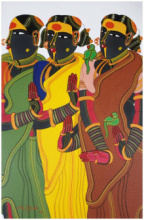 Figurative Acrylic Art Painting title 'Untitled 16' by artist Thota Vaikuntam