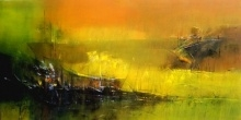 Beach Boat | Painting by artist Dnyaneshwar Dhavale | acrylic | Acrylic on canvas