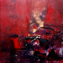 Abstract Acrylic Art Painting title 'Untitled' by artist Dnyaneshwar Dhavale