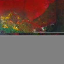 Abstract Acrylic Art Painting title 'Mountain Range' by artist Dnyaneshwar Dhavale