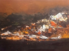 Dnyaneshwar Dhavale | Acrylic Painting title Untitled 51 on Acrylic on canvas | Artist Dnyaneshwar Dhavale Gallery | ArtZolo.com