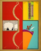 3.guru Gobind Singh - sarbansdani | Mixed_media by artist Pankaj Sachdeva | Canvas