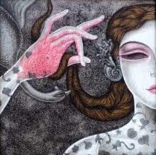 Figurative Acrylic Art Painting title 'Abhisarika 33' by artist Vishal Sabley