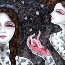 Figurative Acrylic Art Painting title Abhisarika 34 by artist Vishal Sabley