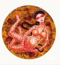 Figurative Acrylic Art Painting title 'Sukanya 1' by artist Vishal Sabley