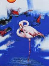 Flamingo 5 | Painting by artist Vishwajeet Naik | acrylic | Canvas