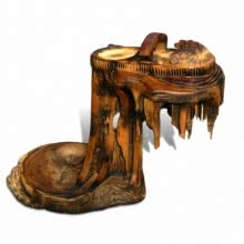 Extricated | Sculpture by artist Indira Ghosh | Wood