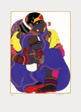 Figurative Serigraphs Art Painting title 'Untitled 6' by artist Thota Vaikuntam