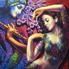 Radha Krishna 2 | Painting by artist Prashanta Nayak | acrylic | Canvas